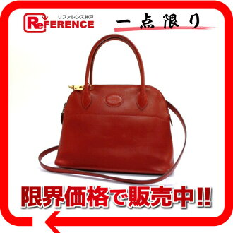 Hermes boiled 27 handbags Bock scarf Rouge System V carved gold fittings with shoulder strap HERMES