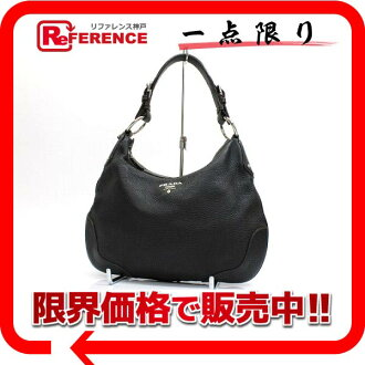 Semi-shoulder bag black black 》 fs3gm that there is no PRADA leather gusset in for 《