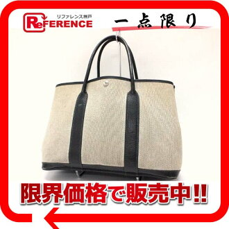 Hermes garden party PM tote bag toil ash chestnut H engraved fs3gm02P05Apr14M