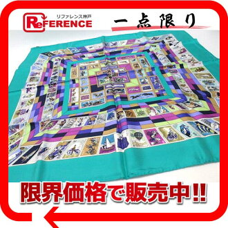"》 fs3gm for 《 as well as an HERMES silk scarf ""boyfriend"" CORRESPONDANCE turquoise system new article"