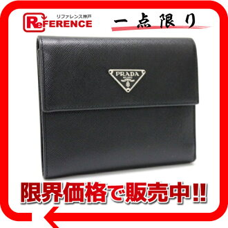 プラダサフィアーノ three fold wallet black M170A 》 fs3gm 02P05Apr14M for 《