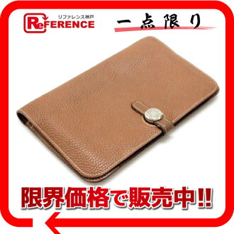 "The wallet ""Dogon GM"" slope gold silver bracket H engraved with coin purse Hermes two fold ""response.""-fs3gm02P05Apr14M"