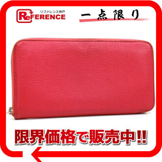 "HERMES ""Asap Long"" Wallet Chevre Leather Rose Shocking"