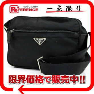 PRADA nylon shoulder bag black 》 02P05Apr14M for 《