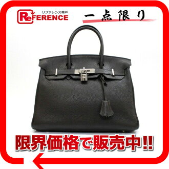 HERMES Hermes handbag Birkin 30″ chocolate silver metal triyoncremans I ever-used