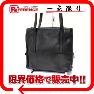 PRADA leather handbag black 》 02P05Apr14M for 《