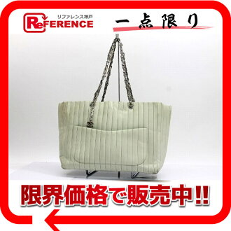 CHANEL lambskin mademoiselle chain tote bag light blue system silver metal fittings 》 for 《
