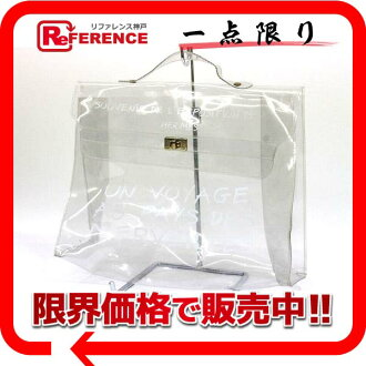 "Hermes vinyl Kelly handbag clear ""response.""-02P05Apr14M02P02Aug14"