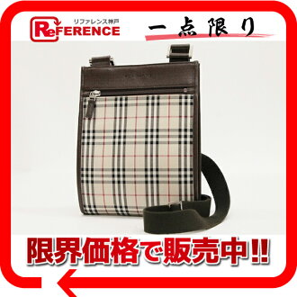 Burberry classical music check shoulder bag beige X brown beauty product 》 for 《