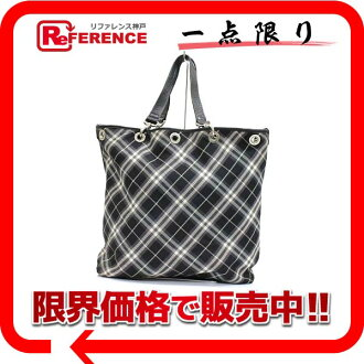 Burberry blue label reversible tote bag black system 》 02P11Jan14 for 《