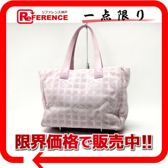 "Chanel Newt label line Tote MM pink ""response.""-02P05Apr14M"