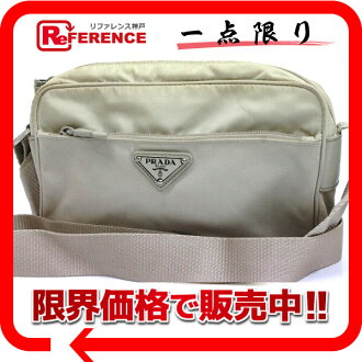 PRADA nylon shoulder bag light beige system 》 for 《
