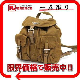PRADA nylon rucksack brown 》 for 《