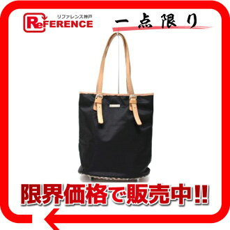 "Burberry Blue label bucket-type Tote Bag Black x beige ""response.""-02P05Apr14M02P02Aug14"