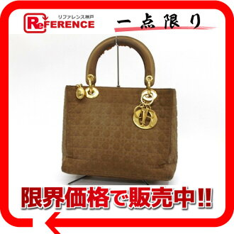 Dior lady dior nylon handbag brown 》 for 《
