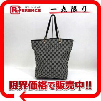 "Gucci GG canvas bucket-type Tote Bag Black x white s correspondence.""02p02.ug14"