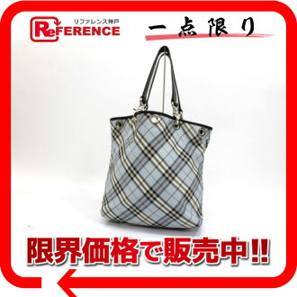 Burberry reversible tote bag light blue X black 》 02P02Aug14 for 《