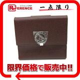 BVLGARI ブルガリ ブルガー ロゴクリップ 財布 ダークブラウン 23273 新品同様 中古