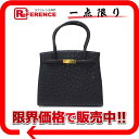 Women'S Bag - オーストリッチ 2WAYハンドバッグ ブラック 【中古】