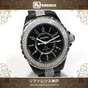 CHANEL シャネル J12 ダイヤモンドインデックス 12Pダイヤ メンズ 腕時計 ブラック セラミック クオーツ H1625 ボーイズ ブランド プレゼント値下げ SALE