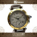 Cartier カルティエ パシャ38mm パワーリザーブ メンズ腕時計 コンビ SS×K18YG 自動巻き 【中古】