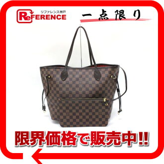 Used LOUIS VUITTON Louis Vuitton Damier neverfull MM-new tote bag pouch N41358