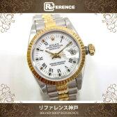 ROLEX ロレックス デイトジャスト レディース腕時計 オートマチック SS×K18YG ホワイトローマ X番 69173 【中古】 0601楽天カード分割