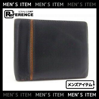 Hermes MC2 two bi-fold wallet mens black L ever-HERMES
