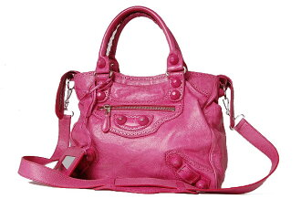 "Balenciaga spring 2010 summer new color bag 235223 ""ジャイアントヴェロ covered"" SORBET (sorbet and Fuchsia pink)"
