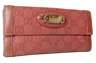 Gucci PUNCH (punch) guccissima W hook length wallet rose pink 146199 fs3gm