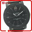 BVLGARI ブルガリ BB40CL メンズ腕時計 ブルガリ・ブルガリ 腕時計 カーボン/革ベルト メンズ【中古】
