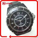 CHANEL シャネル H3131 メンズ腕時計 42mm デイト J12 腕時計 セラミック/SS メンズ【中古】
