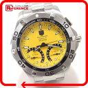 TAG HEUER タグホイヤー CAF7013 クロノグラフ キャリバーS アクアレーサー 腕時計 SS メンズ【中古】