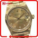 ROLEX ロレックス デイトジャスト ボーイズ腕時計 K18YG(750) 10P旧ダイヤ 自動巻 68278G 仕上げ済み 美品 【中古】 KK