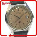 SEIKO セイコー 5645-7010 メンズ腕時計 グランドセイコー ハイビート デイト 腕時計 SS×革ベルト ブラック メンズ【中古】
