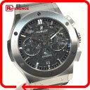 HUBLOT ウブロ 525NX0170LR クロノグラフ メンズ腕時計 アエロフュージョン クラシック フュージョン 腕時計 チタン/レザー ブラック メンズ 未使用【中古】