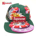 Supreme シュプリーム 18FW Casino Camp Cap カジノ キャンプキャップ 帽子 グリーン メンズ 未使用【中古】