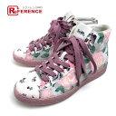 COACH コーチ G1850 靴 花柄 フラワー ラメ ス...