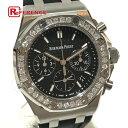 AUDEMARS PIGUET オーデマ・ピゲ 26231ST.ZZ.D002CA.01 メンズ腕時計 ロイヤルオーク オフショワ デイト ダイヤベゼル32P (計1.02ct) 腕時計 SS / ラバーベルト シルバー メンズ 未使用【中古】