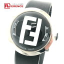 FENDI フェンディ 8010G FFロゴ ブースラ ドーム型 クオーツ 腕時計 SS / ラバーベルト ユニセックス シルバー シルバー×ブラック 【中古】