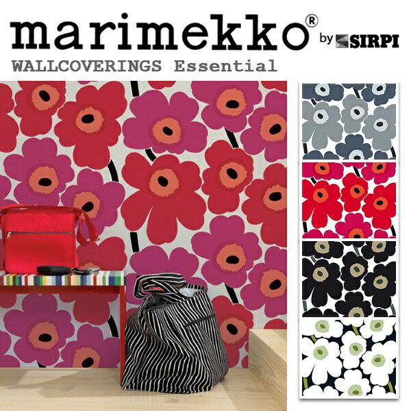 RoomClip商品情報 - 輸入壁紙/フィンランド(生産はイタリア)製/Essential(エッセンシャル):marimekko(マリメッコ)メーカー品番:13070,13071,13072,13074/Unikko(ウニッコ)/1ロール(巾70cmX10.05m)単位販売/不織布PVCコーティング