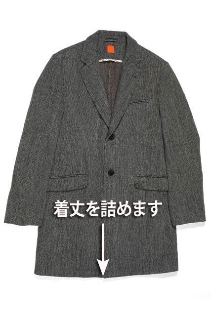 紳士 コート着丈(ベンツあり)