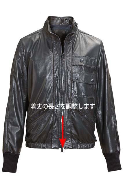 紳士/婦人レザージャケット/ブルゾン着丈(ノー...の紹介画像2