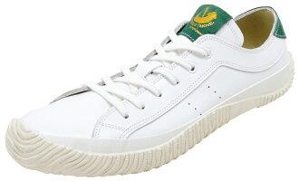 Spingarmove SPINGLE MOVE SPM-107 White/Green spingarmove SPM107 white / green leather sneakers