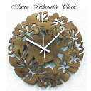 掛時計 アジアン 掛け時計 シルエット クロック | 時計 レディース おしゃれ かわいい カジュアル 可愛い 人気