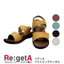 リゲッタ ドライビングサンダル 3cmヒール/ Re:getA RegettaCanoe 靴 コンフォートシューズ 痛くない 履きやすい 靴 疲れにくい 歩きやすい ぺたんこ 楽チン レディース