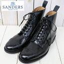 【ポイント10倍】SANDERS (サンダース)『Military Cap Toe Boot』(Black)【smtb-KD】【sm15-17】【楽ギフ_包装】...
