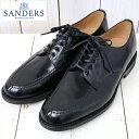 【最大15 OFFクーポン配布中】SANDERS (サンダース)『Military Apron Derby Shoe』(Black)【正規取扱店】【smtb-KD】【sm15-17】【楽ギフ_包装】【ダービーシューズ】【ミリタリーコレクション】