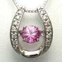 ショッピングダイヤ ダンシングストーン ピンクサファイア ホワイトゴールドネックレス ピンクサファイア0.69ct×ダイヤモンド0.10ct×K18WG