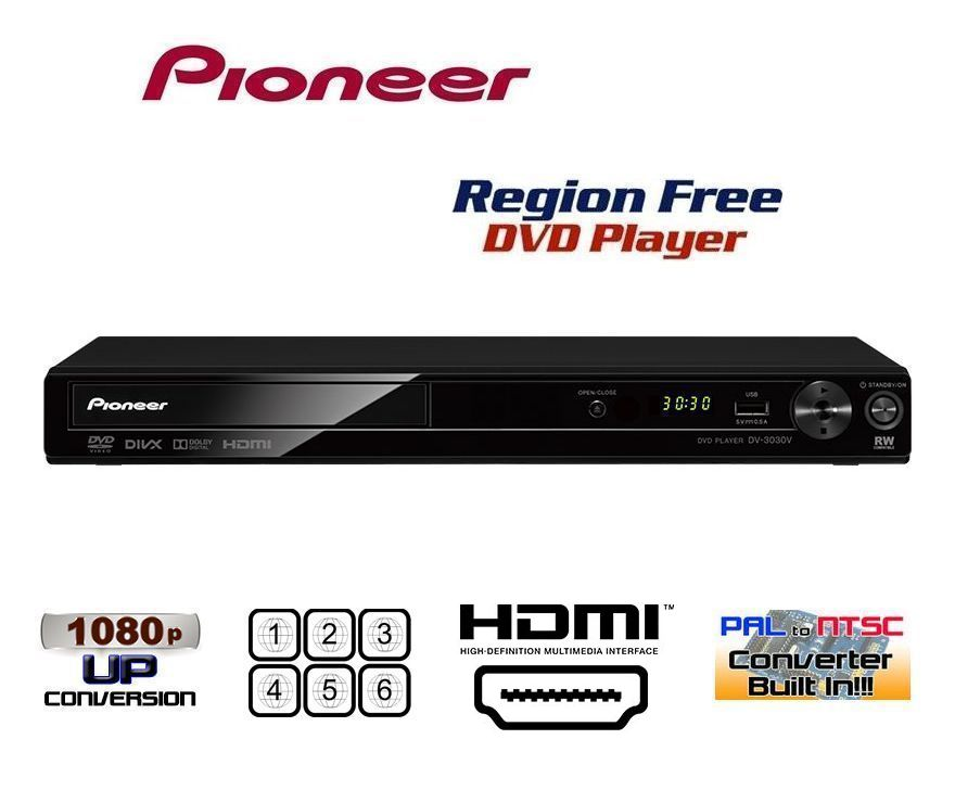 【安心の完全1年保証 3年延長保証対応】パイオニア Pioneer DV-3030V【国内版 リージョンフリーバージョン】HDMI端子搭載 DVDリージョンフリープレーヤー(PAL/NTSC対応) 世界中のDVDが視聴可能】【販売店限定保証書/HDMIケーブル 付属】